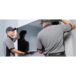 "Install TV w/ Full Motion Bracket 56""-70""  -  $349.99"